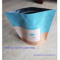 Stand Up Craft Paper Bags With Transparent Window In Front For Dry Food Manufactures