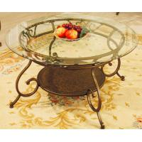 China Round Top Lounge Contemporary Glass Table With 8mm Tempered Glass wholesale
