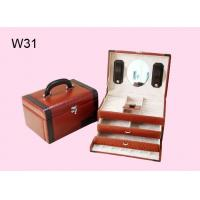 China Leather Wrapped Jewelry Wooden Gift Boxes With 2 Colors W31 wholesale