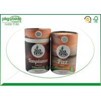 Quality Brown Craft  Cardboard Tea Tube Packaging Durable Food Grade Eco - Friendly for sale