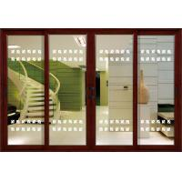 1.4mm profile thickness white, red wood aluminum sliding glass doors for residential Manufactures
