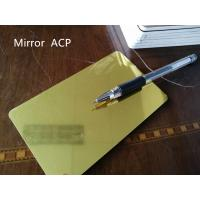 China Gold Mirror Aluminum Composite Panel Thickness 4mm For Room Decoration on sale