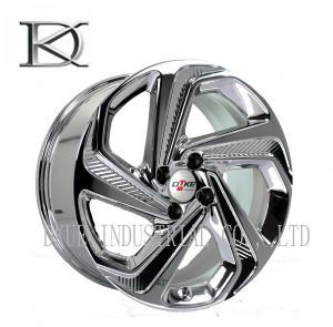 China Luxurious Machined Aluminum Wheels 5 Spoke Deep Lip Rims Electroplating Finished wholesale