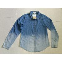 China Cheap unisex gradients color full sleeve denim shirts blouse tops stock lots wholesale