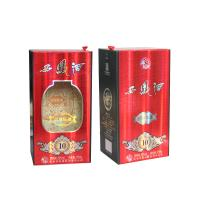 China Special Paper Liqueur And Wine Gift Box Cardboard Paper Lid Hinge Base Box wholesale