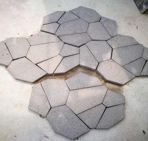 China Black Lava Stone Flagstone,Basalt Flagstone Wall Cladding,Black Flagstone Walkway,Flagstone Patios wholesale
