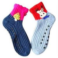 China Eco - Friendly Resists bacteria ruffle lovely  colored sporty wool kids novelty socks wholesale