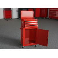 """China 18"""" Red & Black Garage Tool Box Chest Combo On Wheels With 3 Drawers wholesale"""