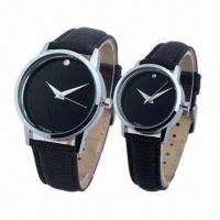 China Promotional Gift Watch Set with Alloy Metal and Leather Strap, Packing, Gift Box wholesale