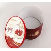 China Food Grade Round Red Fold Cardboard Paper Box Packaging Decorative Cake Boxes wholesale