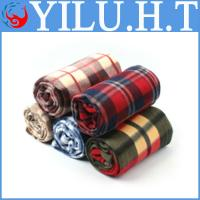 China 2014 very cheap wholesaler indian check and grid polar fleece blankets wholesale wholesale