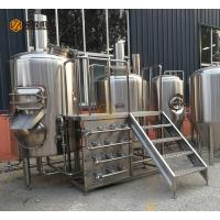 Buy cheap 300L Capacity Brewhouse Equipment , Stainless Steel 3 Vessel Brewhouse from wholesalers