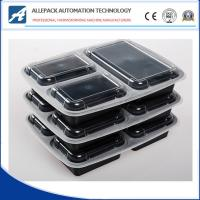 China Microwavable Takeaway Disposable Plastic 3 Compartment Food Containers With Lids wholesale