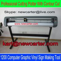 China 1300 Vinyl Cutting Plotter With Optic Sensor TH1300 Vinyl Cutter Large Vinyl Sign Cutters wholesale