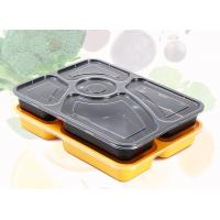 China Premium 5 Department PP Food Trays Disposable Plastic Food Containers With Lids wholesale