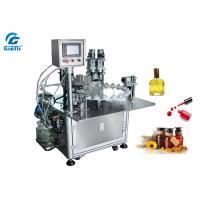 China Rotary Type Nail Polish Filling Machine PLC Control With 30 Bottles Per Minute wholesale