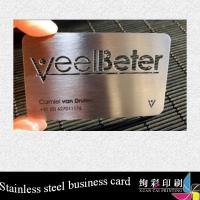 China Professional Unique Custom Metal Business Cards / Metal Playing Card wholesale