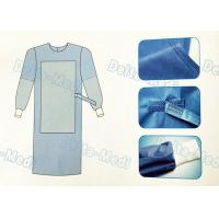 China Tie On Disposable Sterile Gowns , Disposable Operating Gowns Wood Pulp Spunlace Fabric wholesale