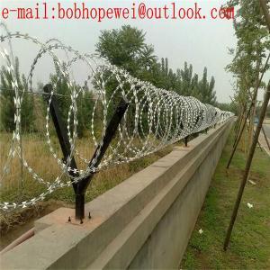 China Manufacturer Razor Barbed Tape Wire /Razor Wire / Galvanized PVC Coated Security Concertina Razor Barbed Wire /razor wie on sale