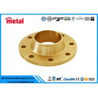 China Precision Copper Nickel Pipe Fittings Copper Pipe Flange High Destructive Turbulence wholesale