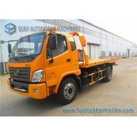 China Yellow Forland Times 5T flatbed tow truck 3 Seats 1 Sleeper Left Hand Drive wholesale