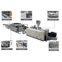 China Decking PVC Roof Tile Machine Continuous Current Easy To Operate With Hauling Set wholesale