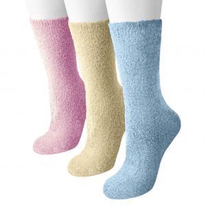 Women's Non-skid Dot Sole and Aloe Crew Socks
