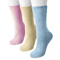 Quality Women's Non-skid Dot Sole and Aloe Crew Socks for sale