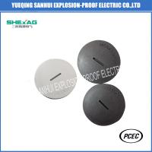 China High quality hot selling square head waterproof PA66 black/light grey threaded nylon plug/screwed end cap metric,PG wholesale