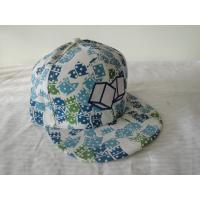 Buy cheap Flat Billed Polyester / Acrylic Strap Back Caps For Child, Custom Printed Hip Hop Caps With Metal Buckle from wholesalers