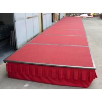 China Folding Steel Stage Platform Hotel Stage Mobile Portable With Wheels / Carpet wholesale