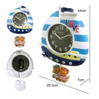 China Lovely bear design wall clock for bedroom decoration wholesale