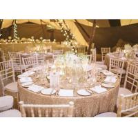 China Square Round Glitter Sequin Tablecloth Roll Elegant Decoration Eco Friendly wholesale