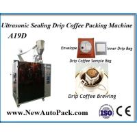 China Hanging ear drip coffee filter packing machine with outer envelope wholesale