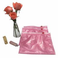China Customized size and printing pink custom plastic waterproof packaging ziplock bubble bags wholesale