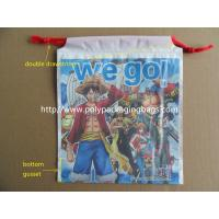 China Custom Printed Drawstring Plastic Bags / Double Drawstring Bag OEM wholesale