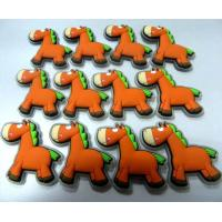 China Cartoon Orange Donkey 3d Soft PVC Patches / Labels For Children Clothes Accessories wholesale