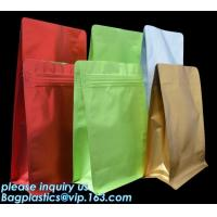China Coffee Stand Up Zip Lock Bags Aluminum Foil Food Packaging Metallized Standing on sale