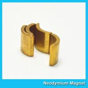 China Permanent Neodymium Motor Magnets NiCuNi Coating Bright Silver Color wholesale