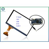 China 7 Inch 16:9 Projected Capacitive Touch Screen With USB Interface , COB Type ILI2511 Controller wholesale