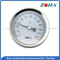 China Steel Miniature Bimetal Dial Thermometer With Spring Pipe Mount Customized Size wholesale