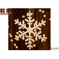 China Unfinished Wood Laser Cut Snowflake Ornament Christmas tree ornaments Holidays Gift Ornament wholesale
