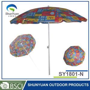 China 1.8M classic steel frame cheap easy leisure outdoor patio beach umbrella wholesale
