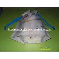 China Personalized CPE / LDPE Drawstring Plastic Bags For Girls Underwear / Bra / Bikini / Vest wholesale