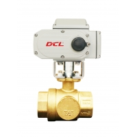 China PTFE Seat 1/4 Inch Electric Actuated Brass Ball Valve on sale