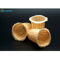 China Small Unbleached Coffee Filter Papers / Yellow Disposable Coffee Filters 23 Gsm on sale