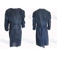 China Dark Blue Non Woven Disposable Isolation Gowns Long Sleeve For Medical Surgical Procedures wholesale