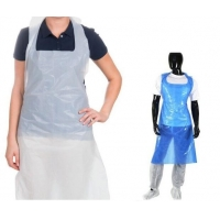 China PE CPE Thickened Lengthened Pink White Biodegradable Disposable Aprons wholesale