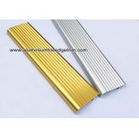 China F Type Toothed Anti - Skid  Metal Aluminum Stair Nosing For Tile wholesale