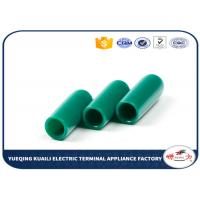 China Green Color Pvc Plastic End Caps For Round Tubing / Fence And Furniture Legs 15mm wholesale